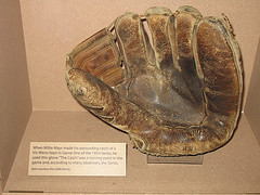 Willie Mays 1954 World Series Catch Glove